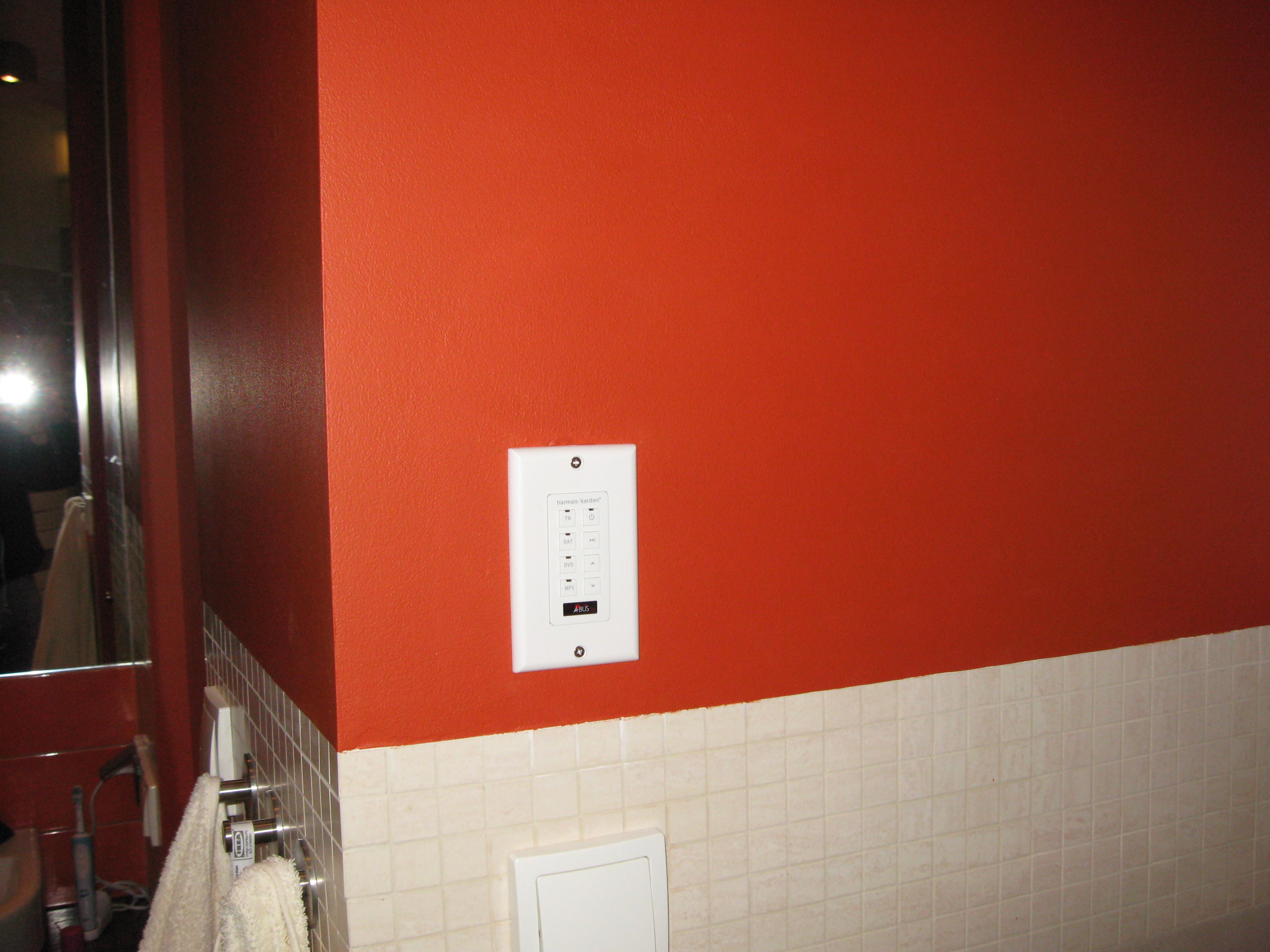Klawiatura systemu multiroom - łazienka II